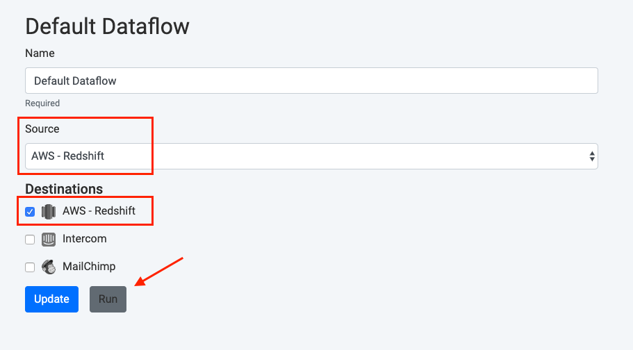 how to dataflow run